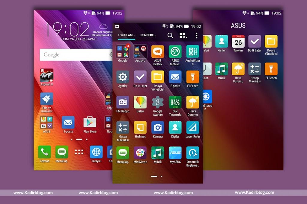 asus zenfone max zenui apps uygulamları launcher