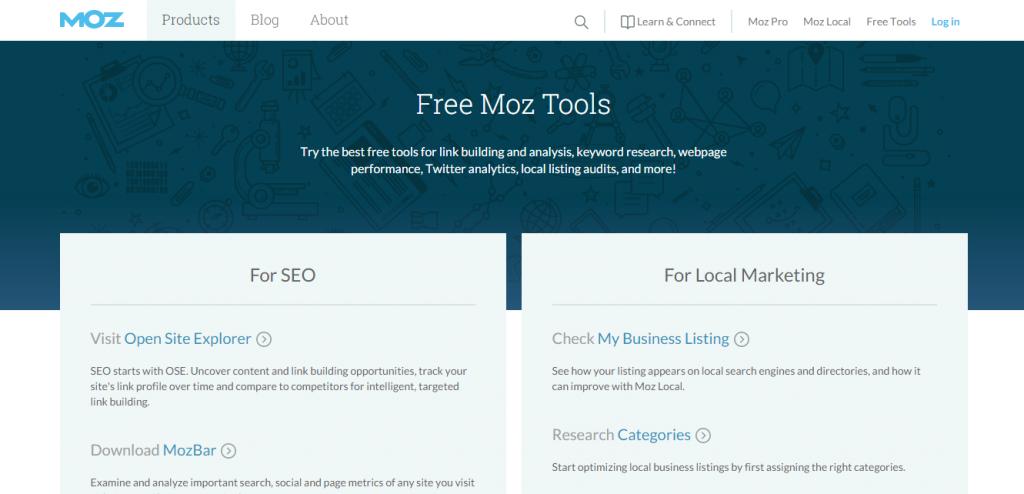 moz pro tools ücretsiz site analiz kadir blog seo analiz site analiz