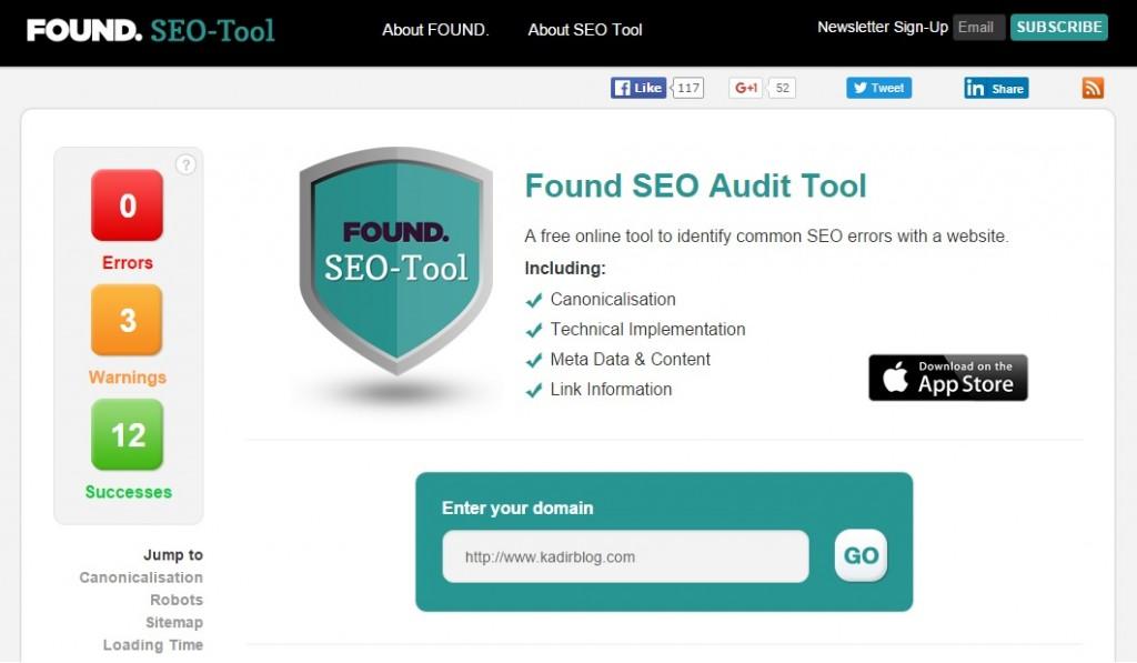 web site analiz seo analiz seo araçları kadir blog com