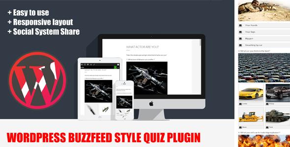Wordpress BuzzFeed Style Quiz Plugin kadirblo