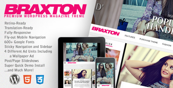 Braxton - Premium WordPress Magazine Theme kadir blog wordpress haber magazin temaları