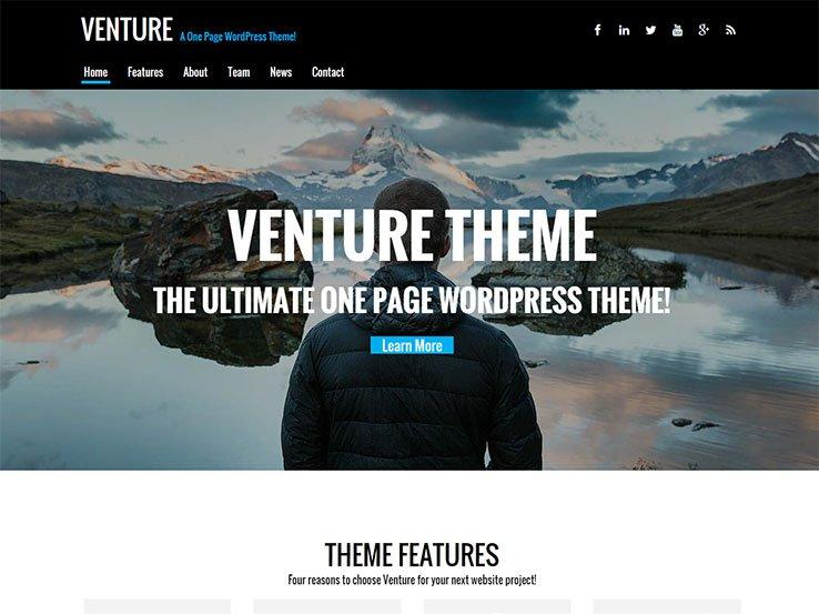 venture wordpress free ücretsiz tema indir download kadir blog kişisel blog